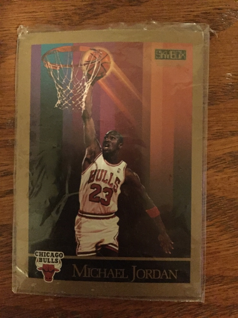 Photo Michael Jordan 1990 basketball and golf card