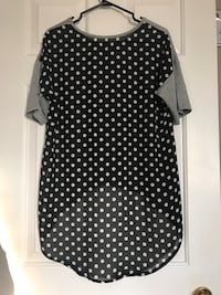 Grey shirt with polka dot back Ladner, V4K 4P7