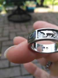 Beautiful silver and turquoise man's  ring 925 marking inside TORONTO