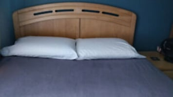 Double Bed C̅ Headboard, Bed Frame and 2 Drawers