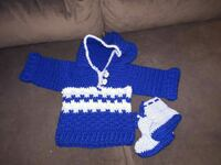 Crochet sweater and bottles new made