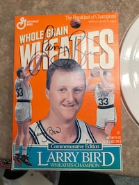 Larry Bird autographed Wheaties box basketball collectible