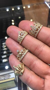Crown rings real gold great Christmas gift