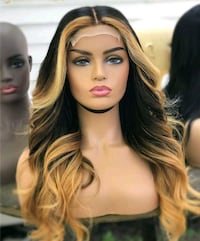 Mixed blonde lace front pure human hair wig with black roots Toronto, M1B 1Y5