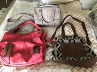 pink and brown leather tote bags Fort Worth, 76052