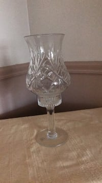 Hand cut 24 percent lead crystal candle made in the Czech Republic Aston, 19014