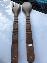 brown wooden spoon and fork decors Edmonton, T6C