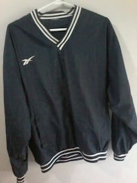 Men's Rebook navy blue pull over sweater