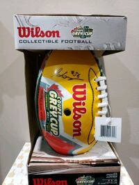 Collectable signed football Edmonton