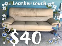 Leather couch Moreno Valley, 92553