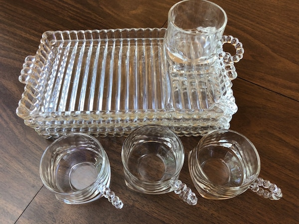 Vintage Hazel Atlas Glass Luncheon/Snack Trays