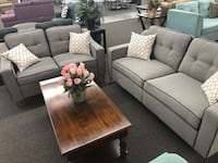 New Couch Sofa Set. Grey. Free Delivery ! 2264 mi