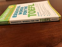 Book - Barron's Essential Words for the TOEFL - BRAND NEW Arlington