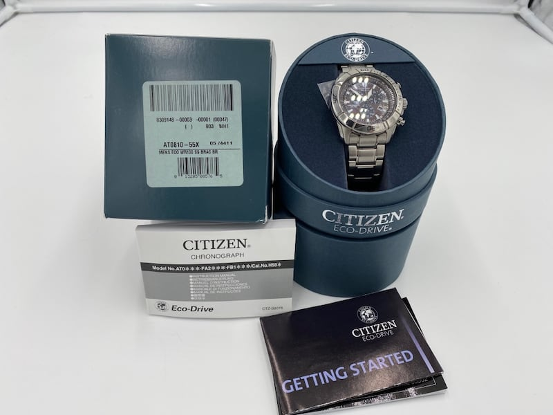 Citizen Eco-Drive Chronograph Stainless Steal 5590870e-2caf-46ae-813c-6e9fd024959a