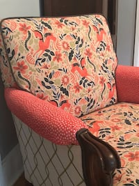 One of a kind upholstered club chair