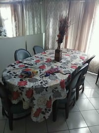 Dinner table oak wood with chairs  Corona, 92879