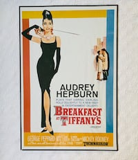 Audrey Hepburn Breakfast at Tiffany's Full Size Poster Vintage Norfolk, 23504