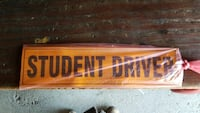Magnetic student driver signs 67 km