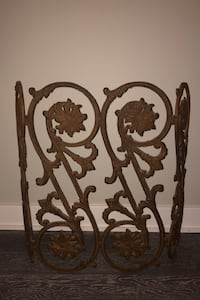 Vintage Iron Fireplace Grate