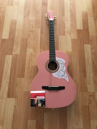 Johnson Pink Acoustic Guitar