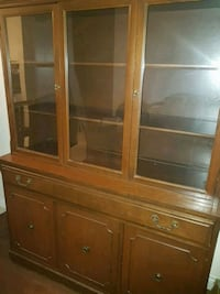 brown wooden china buffet hutch Laval