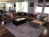 Pottery Barn sectional couch. Everyday suede material. Great condition   Fontana, 92336