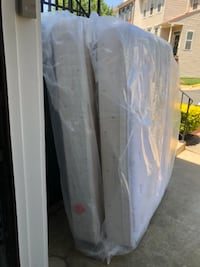 Full size mattress, box spring and frame. Centreville