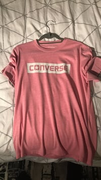 red and white Converse crew-neck t-shirt London, N2