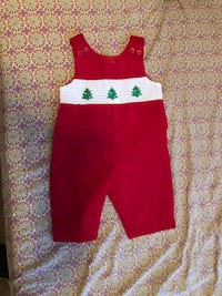Christmas dress for 6 months baby.wore only 1 time Farmers Branch, 75244