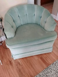 tufted mid-century green/blue suede chairs Surrey, V3S 0T4