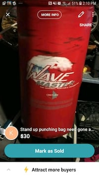 stand up punching bag 1310 km