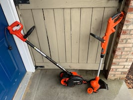 Black and Decker weed eater and edge hog