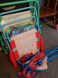 three toddler's blue, green and red folding beds Boonsboro, 21713