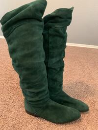 Spiegel green suede boots Surprise, 85388