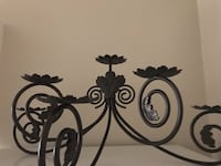 Large black metal wall or table candle holder London, N5C 1J7