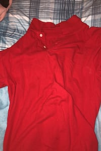 Medium red old navy collar shirt