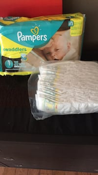 white Pampers swaddlers diaper pack with box Caledon, L7E