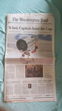 Washington Capitals Stanly Cup Champions Newspaper Centreville, 20120