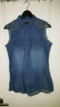 Women's denim shirt with rhinestones Toronto