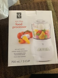 Food processor brand new in packing from a pet and smoke free home for only 35$ Vaughan, L6A 3A5