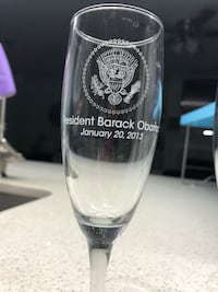Set of 6 Barack Obama champagne flutes Fairfax, 22033