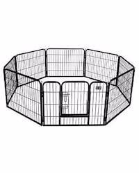 New in box 24 inches tall 8 panels exercise playpen fence safety gate dog cage crate kennel for smaller pet