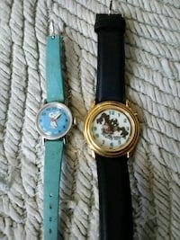 two round gold analog watches with black leather straps Buckeye Lake, 43008