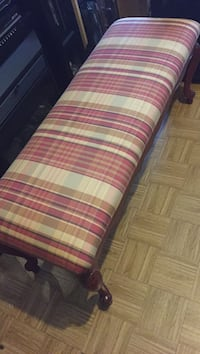 Red, white, and blue plaid fabric sofa Chicago, 60651