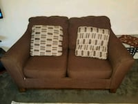brown fabric 2-seat sofa Everett, 98204