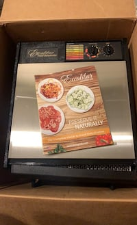 Excalibur 9-Tray Stainless Steel Dehydrator - BRAND NEW/NEVER USED