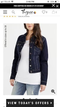 PRICE DROP!! Maternity Jean Jacket from Thyme Laval