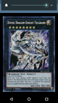 Divine Dragon Knight Felgrand game card 538 km