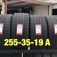 2 used tires 255/35/19 Michelin AS3