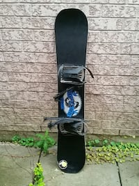 black and blue snowboard with bindings Toronto